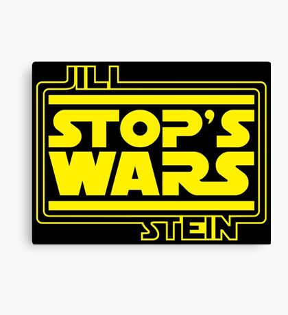 JILL STEIN STOP'S WARS Canvas Print