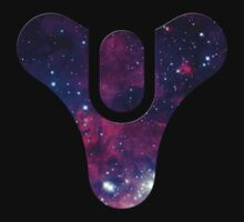 Destiny Game Symbol - Galaxy - Black, Purple, Blue T-Shirt