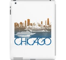 Chicago Skyline T-shirt Design iPad Case/Skin