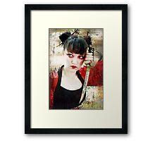 Geisha Samurai Framed Print