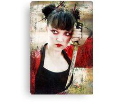 Geisha Samurai Canvas Print