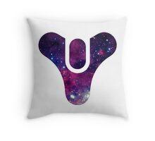 Destiny Game Symbol - Galaxy - Black, Purple, Blue Throw Pillow
