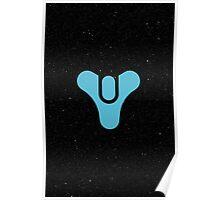 Destiny Game Symbol - Space Stars - Blue, Black Poster