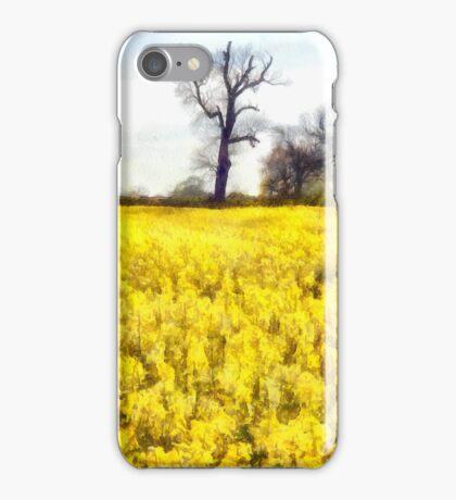 Rape Seed Field in watercolour effect iPhone Case/Skin
