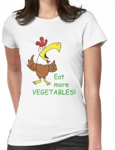 Funky Chicken Womens Fitted T-Shirt