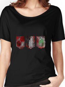 Attack on Titan 3 branches Women's Relaxed Fit T-Shirt