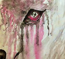 Wolf eye pink and black by Punkface