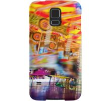 View of Carousel with horses on a carnival Merry Go Round Samsung Galaxy Case/Skin