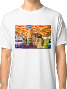View of Carousel with horses on a carnival Merry Go Round Classic T-Shirt