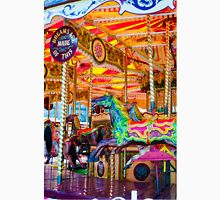 View of Carousel with horses on a carnival Merry Go Round Unisex T-Shirt