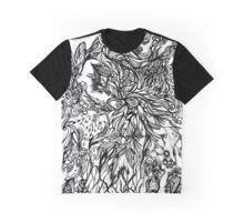 Zen Doodle 2A Black Ink Graphic T-Shirt