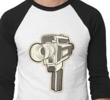 80's camera Men's Baseball ¾ T-Shirt