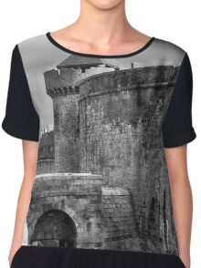 Saint Malo on the Brittany Coast of France Chiffon Top