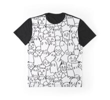 Halloween Party Black and White Graphic T-Shirt