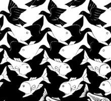 Art Deco Fish and Birds Tesselation Sticker