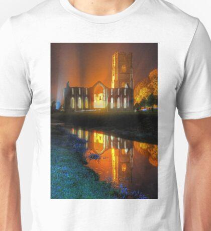 Fountains Abbey Yorkshire Floodlit - 1 Unisex T-Shirt