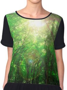 Endless Green Forest of Dreams Chiffon Top
