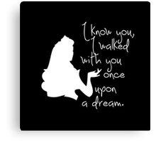 Disney Princesses: Aurora (The Sleeping Beauty) *White version* Canvas Print