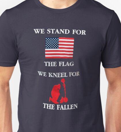 We Kneel For The Fallen Unisex T-Shirt