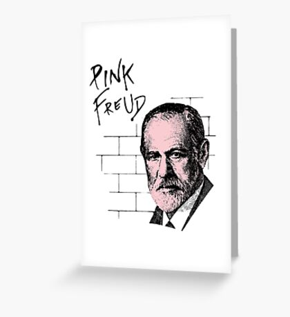 Pink Freud Sigmund Freud Greeting Card