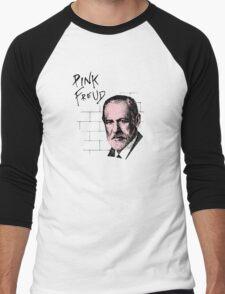 Pink Freud Sigmund Freud Men's Baseball ¾ T-Shirt
