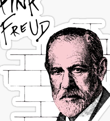 Pink Freud Sigmund Freud Sticker