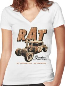 RAT - Pipes Women's Fitted V-Neck T-Shirt