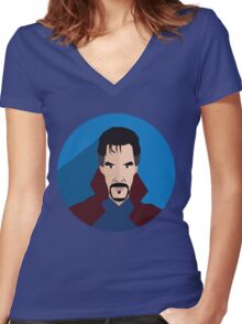 doctor strange fanmade Women's Fitted V-Neck T-Shirt