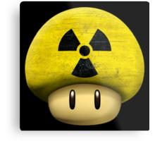 Atomic Mario's mushroom Metal Print
