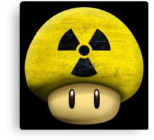 Atomic Mario's mushroom Canvas Print