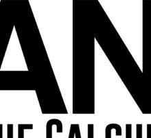 "sqrt(ANS) ""Off The Calculator"" Sticker"