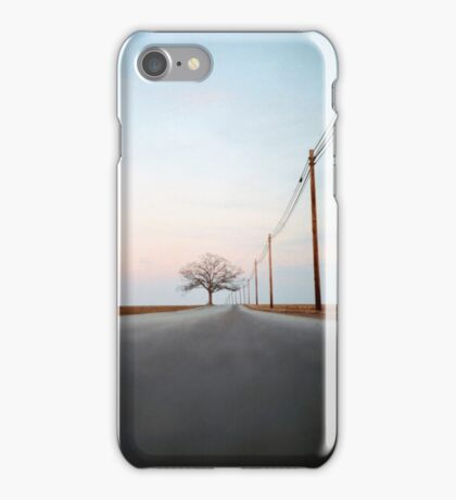 A Lonely Tree on a Long Road iPhone Case/Skin