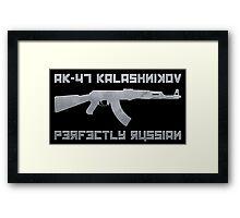 AK-47 Kalashnikov Perfectly Russian Framed Print