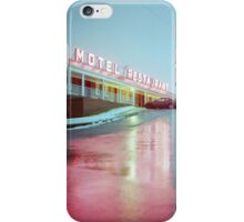 Rainy Motel Lights  iPhone Case/Skin
