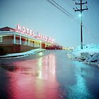 Rainy Motel Lights  by Daniel Regner