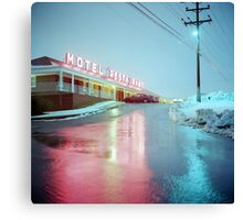 Rainy Motel Lights  Canvas Print