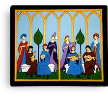 Medieval Music Canvas Print