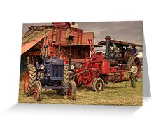 Fordson Baler  Greeting Card
