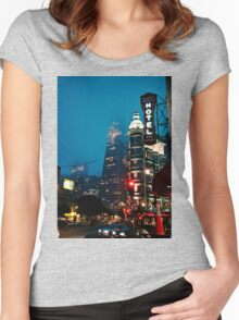 San Fran Evening Women's Fitted Scoop T-Shirt