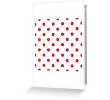 Polka dot fabric Retro vector background or pattern Greeting Card