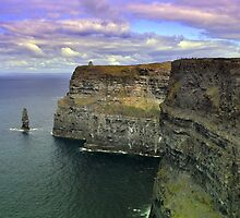 Dramatic Cliffs Of Moher, by Terence Davis