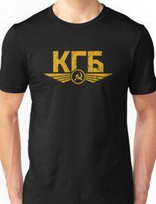 KGB Emblem Yellow Unisex T-Shirt