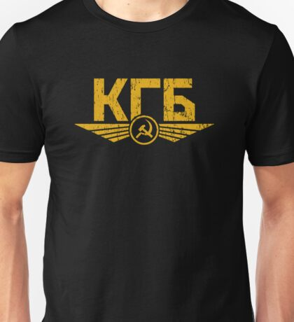 KGB Emblem Yellow Unisex T-Shirt