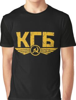 KGB Emblem Yellow Graphic T-Shirt