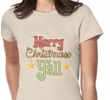 Merry Christmas Y'all Womens Fitted T-Shirt