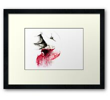 Conceptual drawing - the Body - Look Inside Framed Print