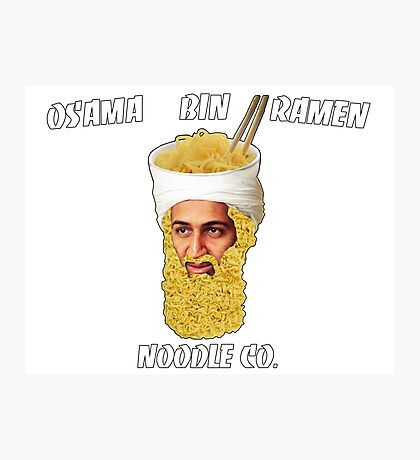 Osama Bin Ramen Noodle Co. Photographic Print