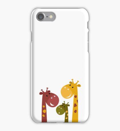 Happy cartoon Giraffes. Vector Illustration iPhone Case/Skin