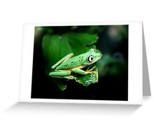 He had his eye on me...or was it a grasshopper? Greeting Card