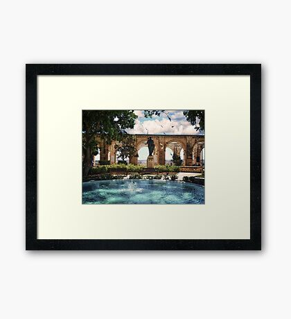 Upper Barrakka in Summer - Valletta Framed Print